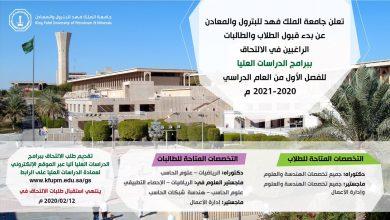 Photo of جامعة الملك فهد تعلن عن بدء القبول في برامج الدراسات العليا